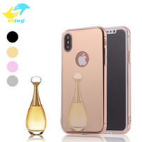 Wholesale High Fashion Iphone Cases - 2018 Fashion High Quality Mirror Electroplating Chrome Ultrathin Soft TPU Phone Case Cover For iphone 6 plus 7 plus iphone 8 plus iphone X
