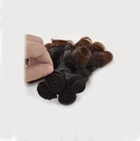 Wholesale funmi hair weave curls for sale - Peruvian Ombre Human Hair bundles Funmi Curl Funmi Hair g bundle Two tone double drown hair wefts G EASY