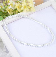 Wholesale Cheapest Jewelry Pearl - Cheapest !! Only 1.99 Free Shipping Bridal Jewelry Faux Pearls Women Evening Prom Party Necklace Bridal Accessory Cheap In Stock White