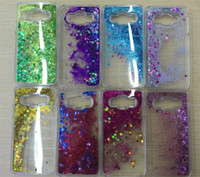 Wholesale Galaxy Ace Bling - Fashion Stars Liquid Glitter case For Samsung galaxy A1 A5 J1 ACE J2 J5 Quicksand 3D Bling Hard PC transparent Case for A310 A510 A710 P8