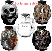Wholesale Red Skull Sweater - New Fashion Couples Men Women Unisex Iron Maiden and Skull 3D Print Hoodies Sweater Sweatshirt Jacket Pullover Top S-6XL TT41