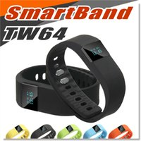 Wholesale TW64 Smart Bracelet Bluetooth Smart Wristbands smart watch Waterproof Passometer Sleep Tracker Function for iphone Samsunios Android IOS