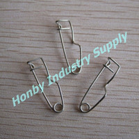Wholesale Wholesale Safety Pins Nickel - pack of 1000 pcs 25 mm Nickel plated Steel Crimp Badge Back Safety Pins never rust