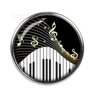 Wholesale European Beads Custom - Vocheng NOOSA Ginger Snap Jewelry Piano Music Note Style Inlaid Crystal Custom Snap Button for Party YD0184