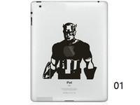 Wholesale Ipad Mini Decals - Hot Originality Cartoon-9 series Vinyl Tablet PC Decal Black Sticker Skin for Apple iPad 1  2   3   4   Mini Laptop Skins Sticker