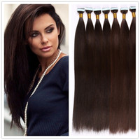 Wholesale Seamless Weft Extensions - Tape In Human Hair Extensions Natural Seamless Tape Hair Extensions Skin Weft Hair Extension Brazilian Tape in Hair Extension