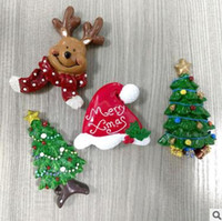 Wholesale Wholesale Souvenirs Fridge Magnet - Fridge Magnets Christmas Decoration Resin Promotional Gifts deer tree Magnetic Sticker Fefrigerator Magnet souvenirs for Xmas Kids Gift