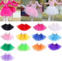 Wholesale dancing costumes kids - Hot Sales Baby Girls Skirts Childrens Kids Dance Clothing Tutu Skirt ballerina skirt Dance wear Ballet Fancy Skirts Costume 2142