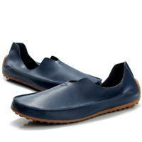 Wholesale Summer Wedding Dresses Colors - Men Shoes Casual Men Loafers Leather Slip On Flat Shoes For Men Fashion Shoes Boat Chaussure Homme 3 Colors