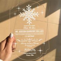 Wholesale Love Bird Wedding Invitations - Customized Engraved Love Birds Invitation Cards With Envelope,Acrylic wedding invitation cards,free ship ZD067C
