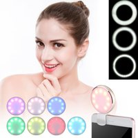 Universal LED Flash Selfie Ring Light Luxo Smart Phone Light Up Selfie Anel luminoso com carregamento USB para iPhone para Samsung