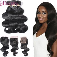 Wholesale Brazilian Hair 3pc - Brazilian Virgin Hair Body Wave With Closure 3pc Body Wave Human Hair Bundles With Closure Unprocessed Wavy Hair With Closure