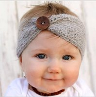 Wholesale Winter Warm Stick - New Infant Baby Girls knit Headbands Toddler Fashion winter warm Hairbands 2016 Babies Autumn Christmas Hair Accessories