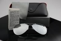 óculos de sol polaroid feminino venda por atacado-Designer de marca polarizada óculos de sol Das Mulheres Dos Homens óculos de sol uv400 Eyewear Piloto óculos de armação de metal Polaroid Lente com Casos de Varejo