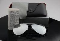 mujeres polaroid gafas de sol al por mayor-Diseñador de la marca gafas de sol polarizadas Hombres Mujeres gafas de sol uv400 Gafas Piloto montura de metal con piloto Polaroid Lens with Retail Cases
