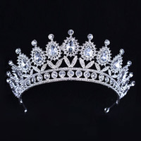 Wholesale beaded hair tiaras for sale - Group buy Luxury Silver Crystals Wedding Crowns Beaded Bridal Tiaras Rhinestone Head Pieces Headband Cheap Hair Accessories Pageant Crown