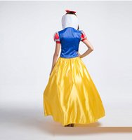 Wholesale Cinderella Costume For Women - Snow White Costume For Girls Fairy Tale Cinderella Princess Long Dress Halloween Cosplay Party Dancing Clothing