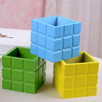 square wooden planter - 2014 new wood crafts flower pots planters cute small Square Vase For Artificial Flowers Wedding Party Home christmas Decoration