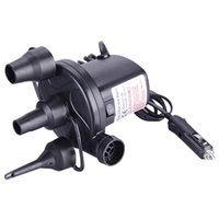 Wholesale electric car tools online - 12V Car Vehicle Auto DC Quick Fill Electric Air Pump Inflator Deflate Tool with Nozzles for Bed Boat Raft Mattress