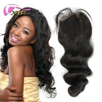Wholesale Two Kinds - New Arrival Hair Style Loose Wave Hair Lace Closure Within Two Kinds Human Hair Quality Lace Closure