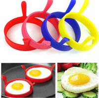 Wholesale Egg Moulds - Kitchen Silicone Egg Tools Fry Frier Oven Poacher egg Poacher Pancake Silicone Egg Poach Rings Mould Mold KKA751