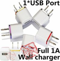 Wholesale Ipad Charger 1a Home - High Quality Home Travel Charger US EU Plug Single USB 1A AC Adapter Wall Charger Plug 1 Port For Samsung Galaxy S7 LG Tablet iPad iPhone 6s