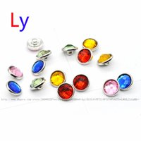 Wholesale Resin Flower Embellishments - Wholesale 12mm polyhedron crystal button Clear Rhinestone Craft Embellishments DIY button For noosa snap chunks jewelry YD0083