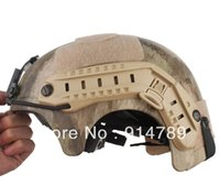 Wholesale Helmet Camo - Wholesale-US SEAL IBH HELMET &NIGHT VISION MOUNT SEAL INTEGRATED HELMET A-TACS CAMO-33959