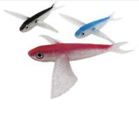 mosca de pesca grande venda por atacado-10 pçs / lote peixe voador iscas de pesca atum pesca à linha iscas 18 cm 20 cm grande jogo de plástico falso iscas de pesca para água salgada
