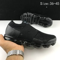 Wholesale Sneakers Belts - New Vapormax moc black belt Mens Running Shoes For Men Sneakers Women Fashion Athletic Sport ShoeWalking Outdoor Shoes size:40-45