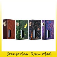 Wholesale Food Grade Tanks - Authentic Stentorian Ram Box Mod Mechanical Vape RAM Mod With PET Food Grade Bottles For Original 510 All BF Atomizers. Tank 100% Genuine