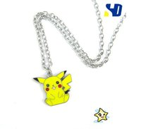 Wholesale Doll Pearl Necklace - Pocket Monster Cosplay Pendant necklace vaporeon jolteon Tepig Totodile Chikorita necklace Doll Toy Cute Llavero Chaveiro jewelry bijoux