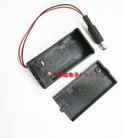 pil kutusu anahtarı toptan satış-Yeni ve orijinal 5 ADET 9 V 6F22 kapaklı anahtarı ile bir dc kafa ile pil kutusu ile 2.1 * 5.5 erkek kafa kırmızı ve siyah