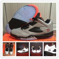 Wholesale Retro Reflective - Free shipping Cheap New Retro 5 V 5s low Neymar space 3m reflective effect Cement grey men shoes basketball sports shoes V mens sneakers