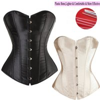 Wholesale White Corset Lace Top - Wholesale-Good Quality 6 Colors Lady Sexy Lace up Boned Overbust Waist Training Corset Bustier Top Waist Trainer Cincher Body Shaper S-6XL
