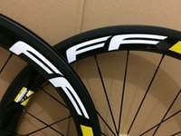Wholesale Used Bikes - black glossy decals 50mm 700c clincher matte finish carbon wheels with black novatec hub for road bike use wheelset