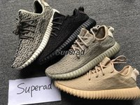 Wholesale Dive Quality - Top Quality Boost 350 Pirate Black Turtle Dove Moonrock Oxford Tan Men Women Running Shoes Kanye West 350 Boosts Shoes With Box 36-46