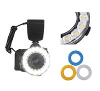 Wholesale Led Ring Flash Dslr - New 18 Macro LED Ring Flash Adapter RF-600E for Sony a65 DSLR Camera