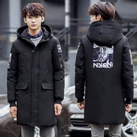 Extra Long Winter Mens Down Cappotti Outwear Casual Jacket Duck giù padded Parkas Maschile Hooded Puffer Giacca Long Overcoat JK-622