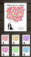 Wholesale Wedding Canvas Guestbook - S L Customize Casamento Wedding Fingerprint Tree Canvas Painting Guestbook Fingerprint Attendance Guest Book for Wedding Party Graduation
