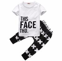 mädchen harem hosen sets großhandel-Neue 2 stücke Kinder Set 0-5Y Baby Jungen Mädchen Sommer Kurzarm T-Shirt und Harem Hose Hosen Outfit Kinder Kleidung Set