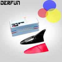 Wholesale New Car Shark - All New Solar Power LED Wireless Car Shark Fin Antenna Style Car decoration Light Warning Tail Lamp