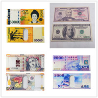 Wholesale England Paper - Various countries Paper money wallet fashion men dollar purse wallet card holders Children Kids Gift Presents A0250