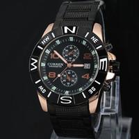 Wholesale Gentleman Watches - 2017 gentleman New CURREN brand Men military watch Date Fashion Quartz Adjustable sports watches Fashion Steel Men Watch Gift Free Shiping