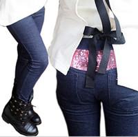 Wholesale Wholesale Corduroy Jeans - 2016 autumn outfit new embroidery double zipper jeans children's jeans