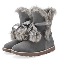 Wholesale Women S Winter Boots Sale - SJ&JH New Arrival 2016 Hot Sale Women Mid Calf Snow Boots Ankle High Cute Decoration Plush Warm Shoes for Winter Comfortable Warm Footwear S