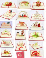 Wholesale Greeting Cards Pop - wholesale 3d greeting card christmas greeting card christmas decorations pop up greeting card, 16 items mixed per lot