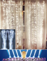 Wholesale Wholesale Decorative Outdoor String Lighting - NEW 4.5M x 3M 300 LED Home Outdoor Holiday Christmas Decorative Wedding xmas String Fairy Curtain Garlands Strip Party Lights MYY181