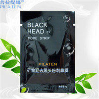 Wholesale black head removed mask - PILATEN Suction Black Mask Face Care Mask Cleaning Tearing Style Pore Strip Deep Cleansing Nose Acne Blackhead Facial Mask Remove Black Head