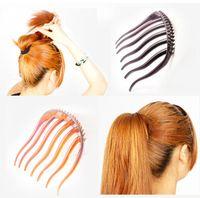Wholesale Hair Wave Maker - 2016 Fashion Women Hair Styling Clip Stick Bun Maker Braid Tool Wave Hair Accessories Dish Hair Tools Wedding Party Hair Accessories